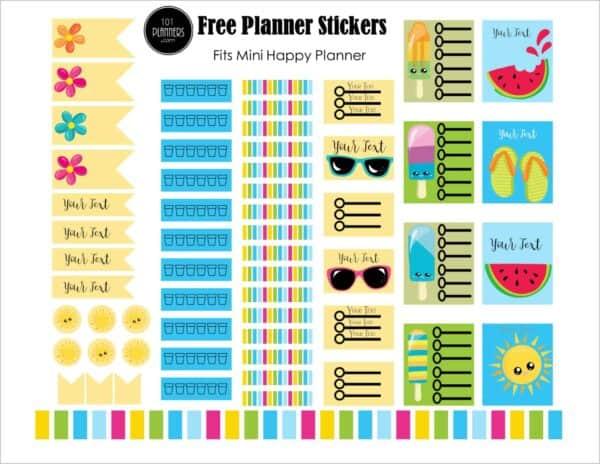 Summer Happy Planner stickers