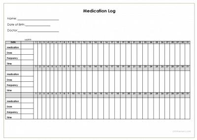 Mesmerizing image inside free printable medication log pdf