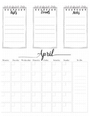 BuJo April printable