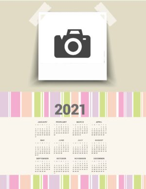 Photo printable calendar