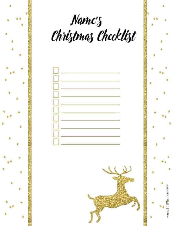 Christmas List Template.Free Christmas List Template Customize Online Print At Home