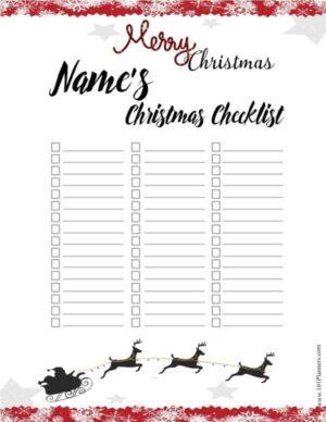Christmas check list