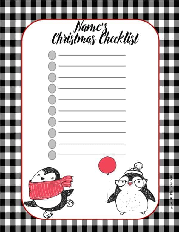 picture regarding Printable Christmas List Template known as Totally free Xmas Listing Template Customise On the net Print at Property