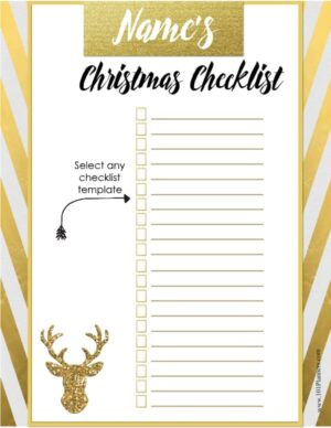 To do list for Holiday Season