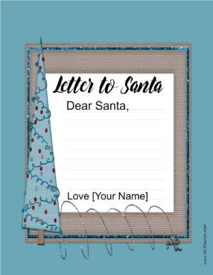Template Santa letter