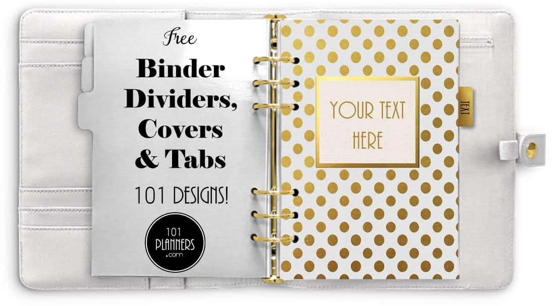 picture about Printable Binder Tabs named Cost-free Printable Binder Dividers that can be Tailored