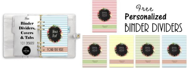 Free printable binder dividers