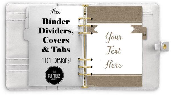 Binder printables