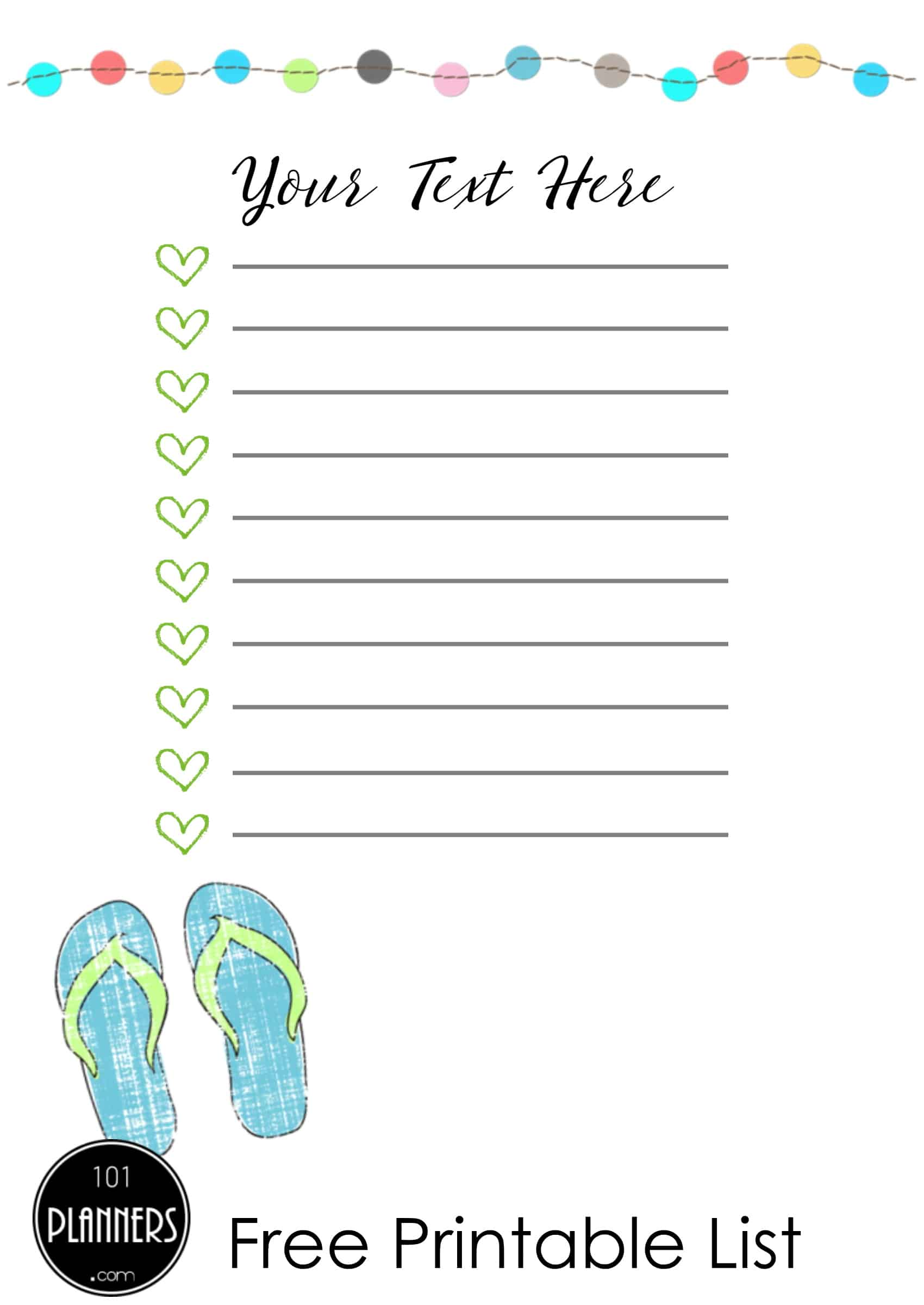 Cute To Do List Template Word from www.101planners.com
