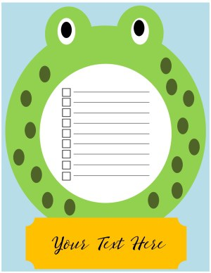 to do list cute frog
