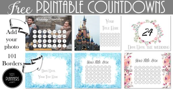 picture relating to Disney Countdown Calendar Printable identified as No cost Printable Countdown Calendar Template Customise On the net