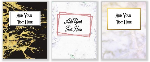 Marble binder covers