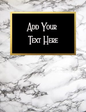 Marble binder cover