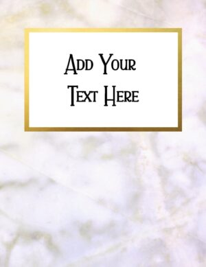 Marble binder cover printable