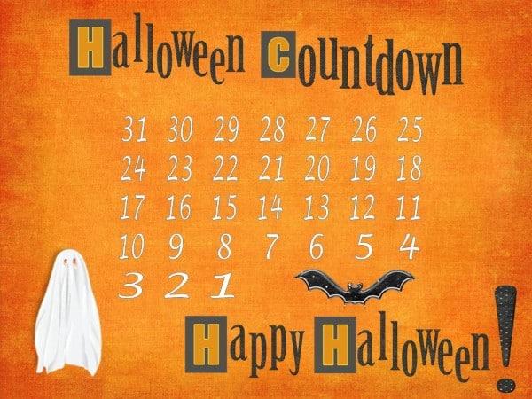 FREE Halloween Countdown Calendar | Instant Download
