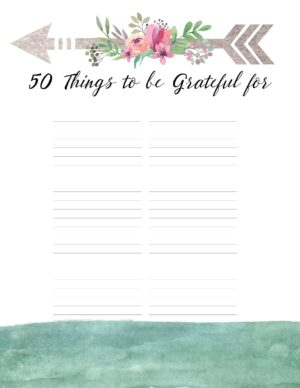 50 Things to be grateful for