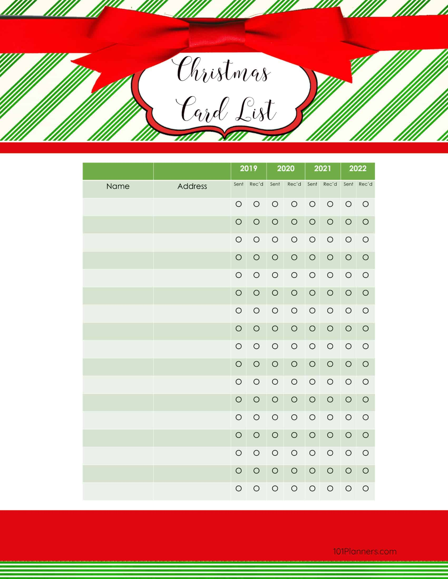 free printable christmas gift list template. Black Bedroom Furniture Sets. Home Design Ideas
