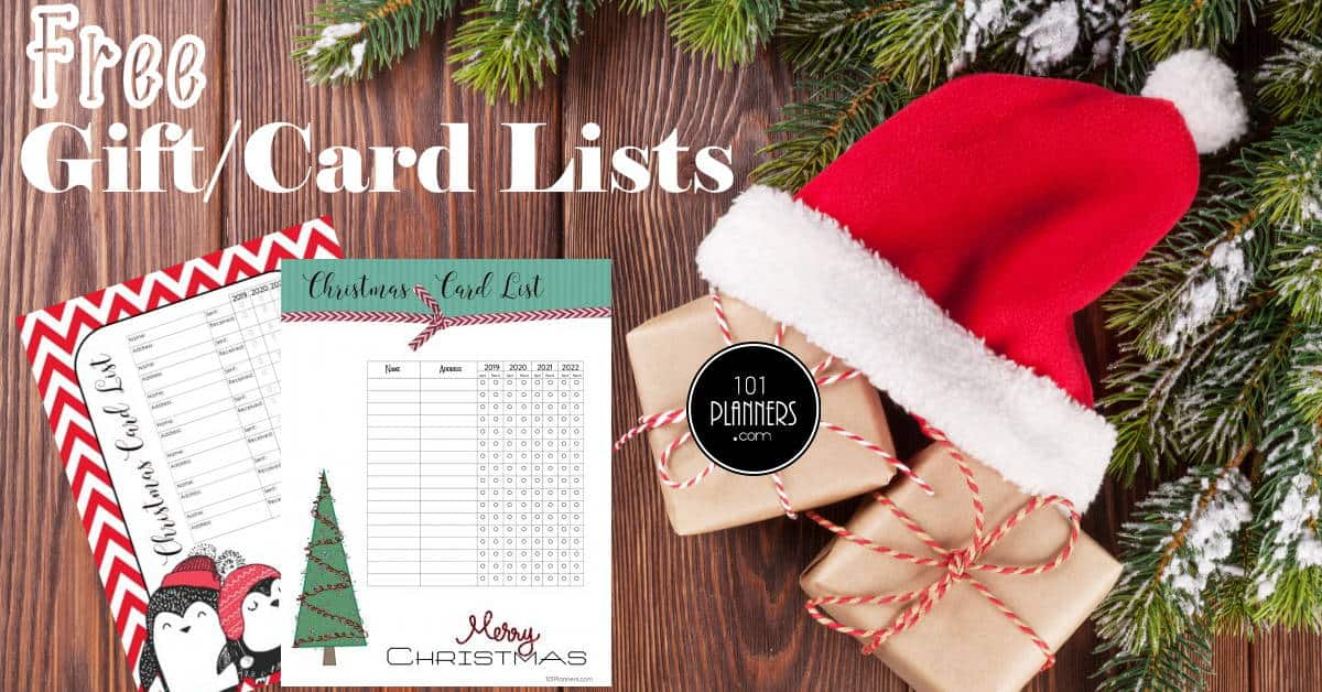 Christmas Card Address Book Template from www.101planners.com