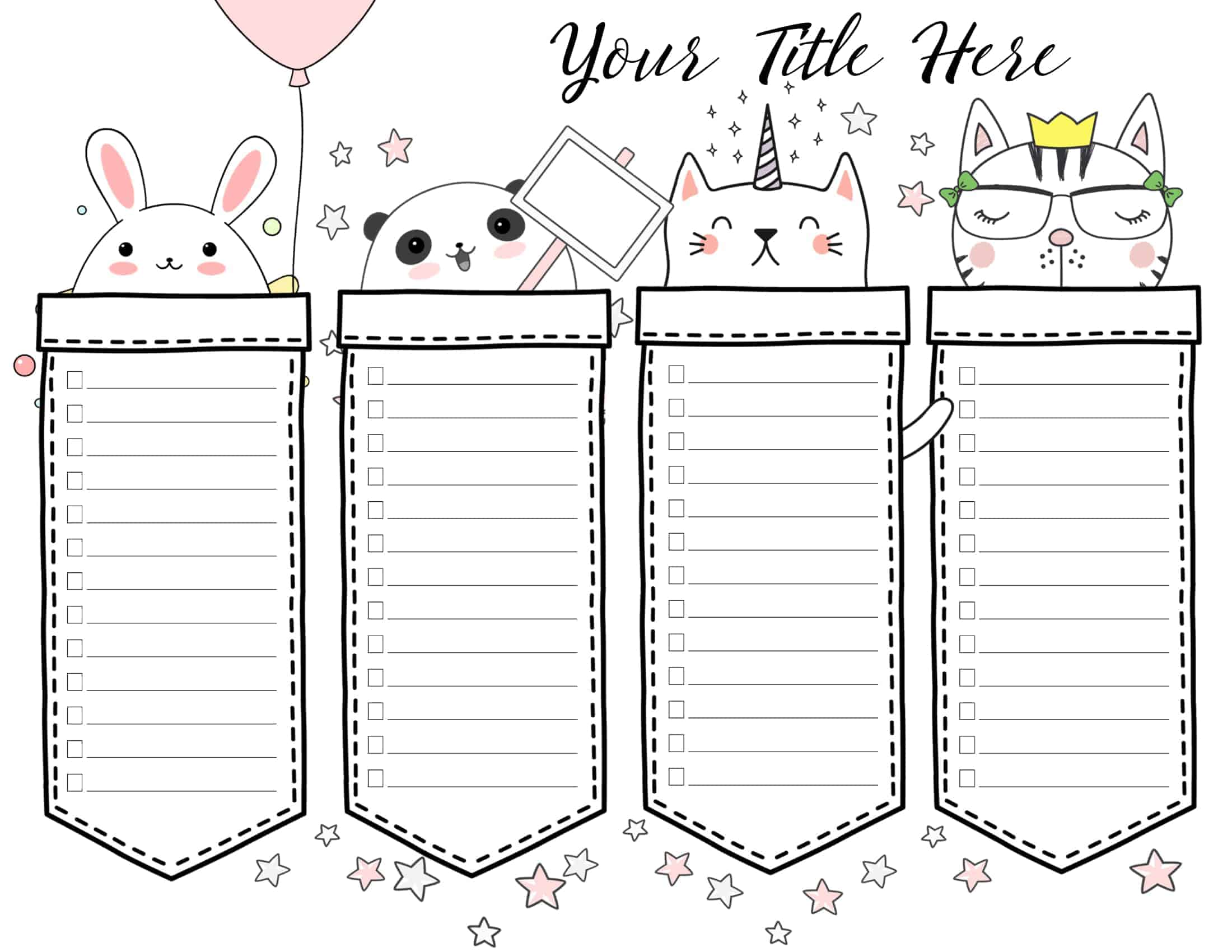 free adorable diy cute planners and planner stickers