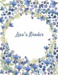 Floral background with watercolor flowers in shades of blue