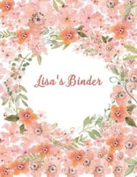 Floral background with watercolor in shades of peach