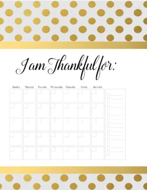 monthly gratitude list