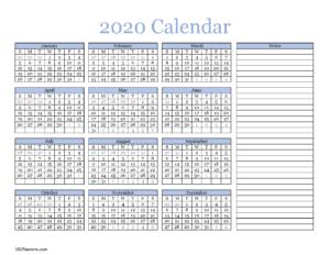 Calendar in blue and black