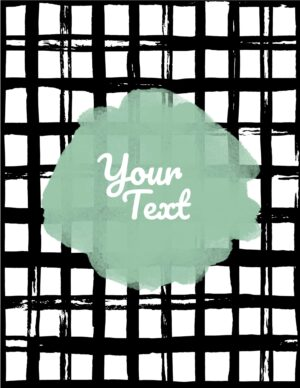Black and white grid with a green frame