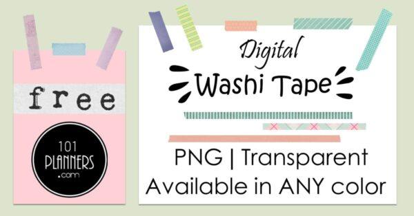 Washi tape PNG