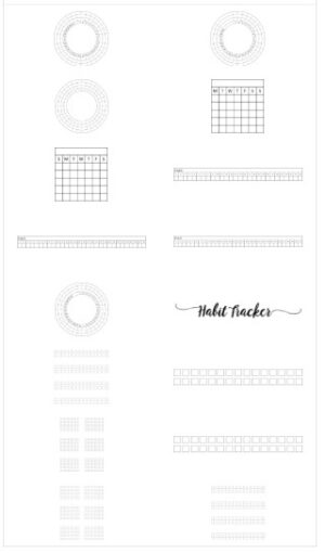 Habit tracker templates