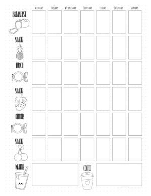 Food Diary Template Free Printable Track Food And Water Intake