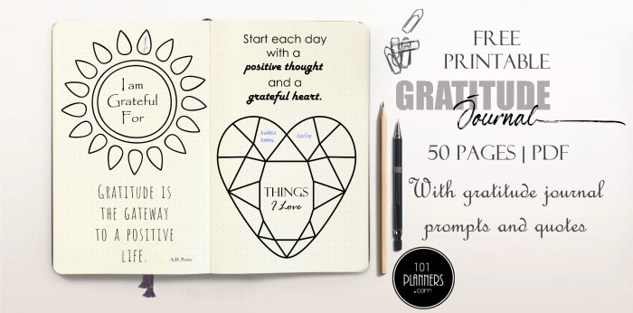 Free Printable Gratitude Journal 50 Pages With 55 Gratitude Prompts