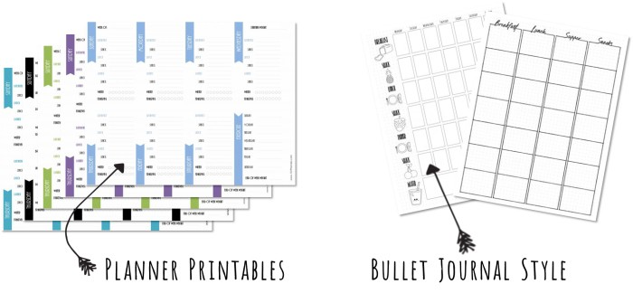 Free Food Journal Template from www.101planners.com