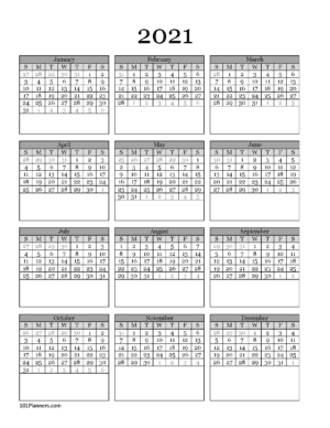 PDF calendar 2021