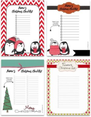 Colored printables